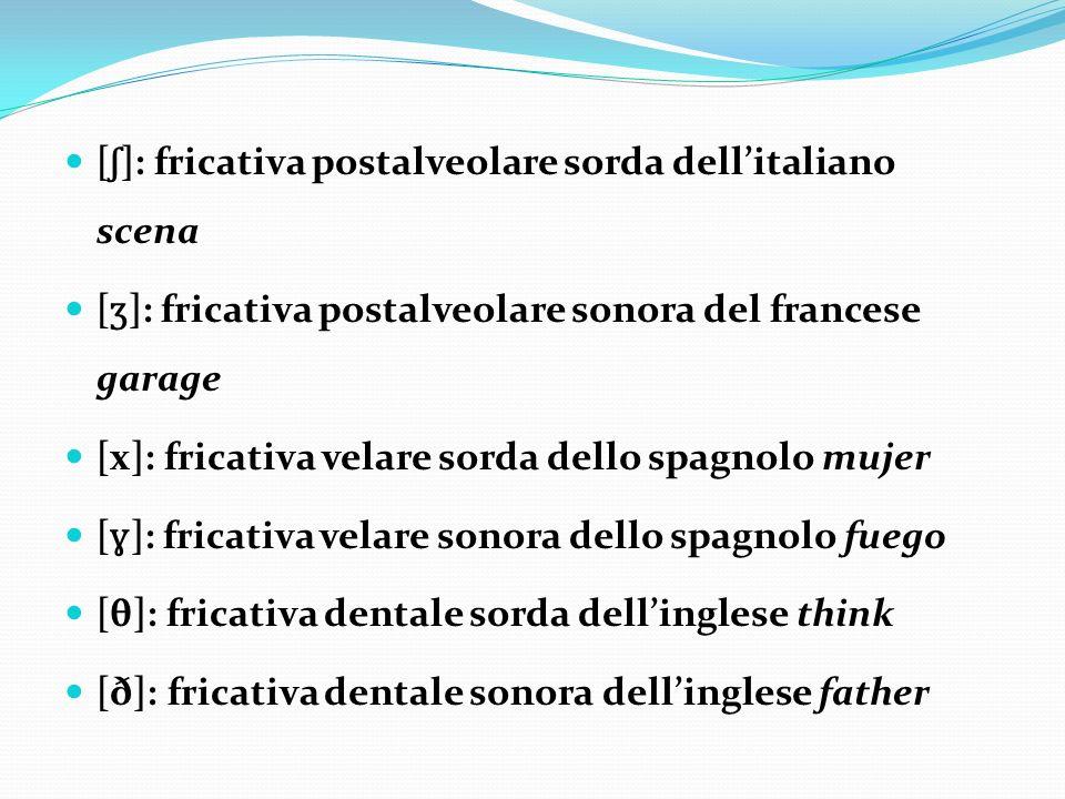 [ʃ]: fricativa postalveolare sorda dell'italiano scena